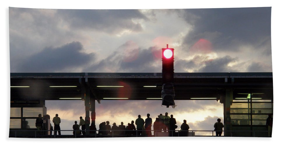 L Train Hand Towel featuring the photograph Chicago L Train by Albert Stewart