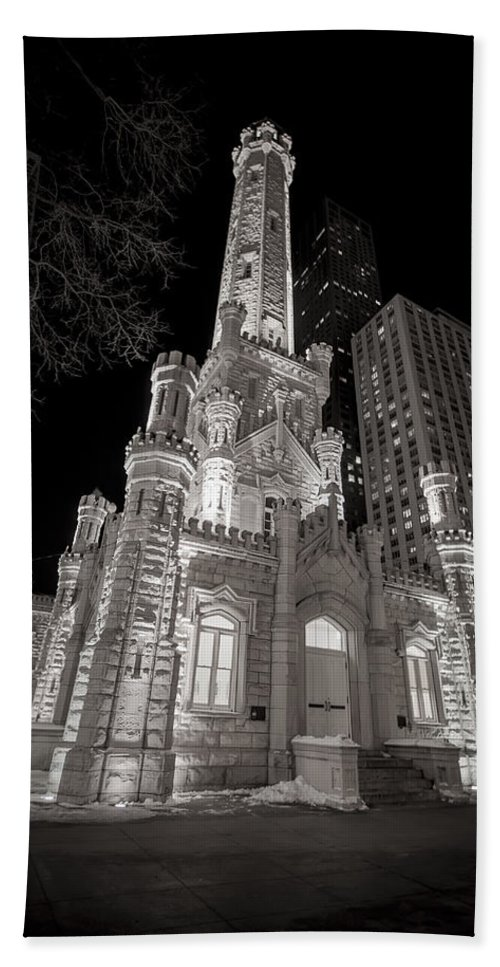 3scape Photos Bath Towel featuring the photograph Chicago Water Tower by Adam Romanowicz