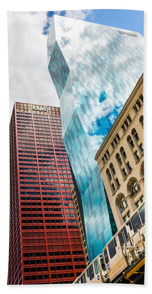 Blue Hand Towel featuring the photograph Chicago's South Wabash Avenue by Semmick Photo