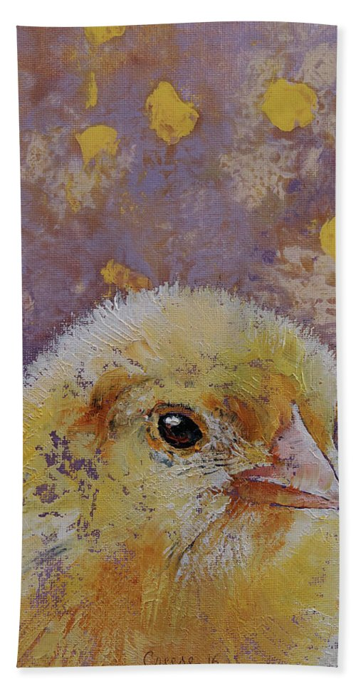 Baby Bath Towel featuring the painting Chick by Michael Creese