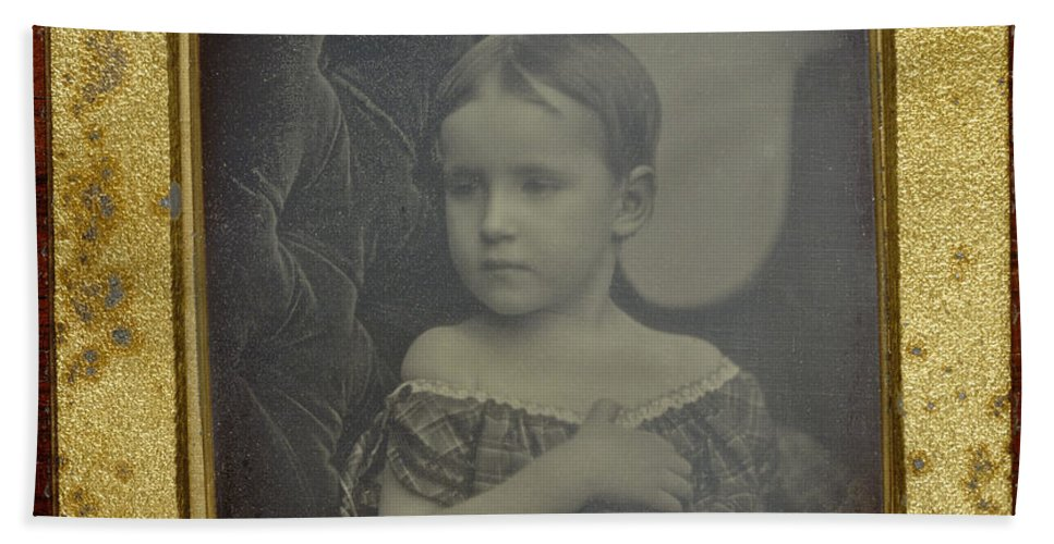 Hand Towel featuring the photograph Child by Albert Sands Southworth And Josiah Johnson Hawes