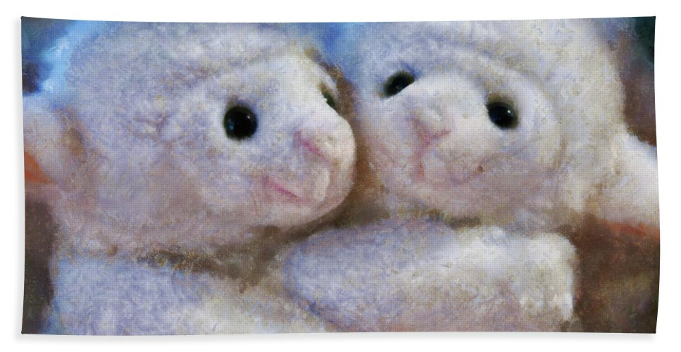 Children Bath Sheet featuring the photograph Children - Toys - I Love Ewe by Mike Savad