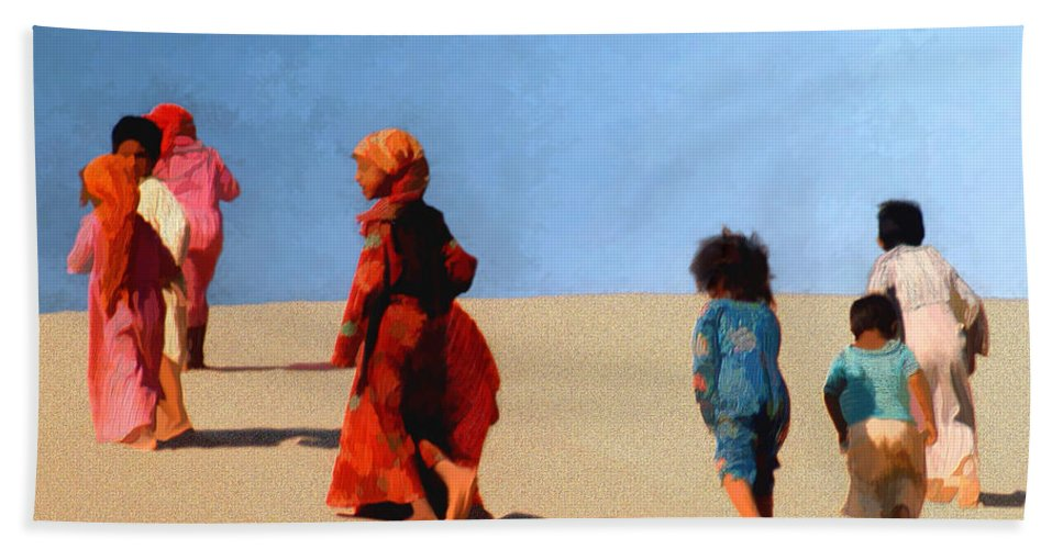 Children Bath Sheet featuring the photograph Children Of The Sinai by Kurt Van Wagner