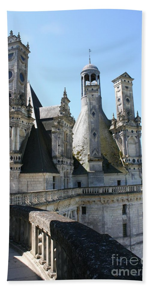 Chimney Hand Towel featuring the photograph Chimney From Chambord - Loire by Christiane Schulze Art And Photography