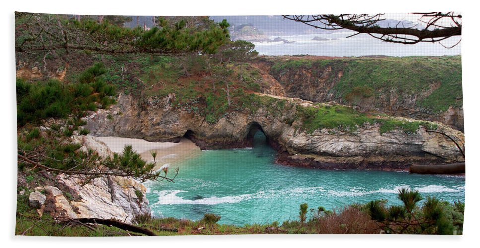China Cove Hand Towel featuring the photograph China Cove At Point Lobos by Charlene Mitchell