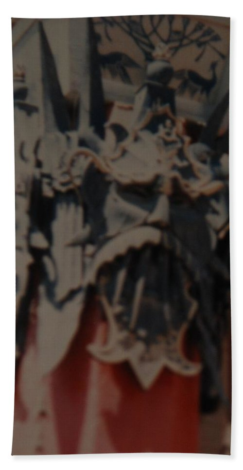 Grumanns Chinese Theater Hand Towel featuring the photograph Chinese Masks by Rob Hans