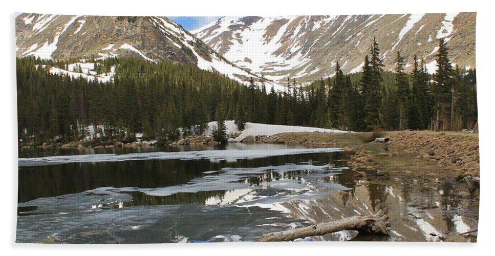 Nature Bath Sheet featuring the photograph Chinns Lake Reflections 3 by Tonya Hance