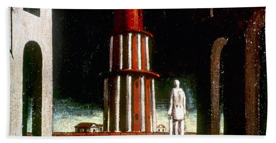 1914 Hand Towel featuring the photograph Chirico: Grand Tour, 1914 by Granger