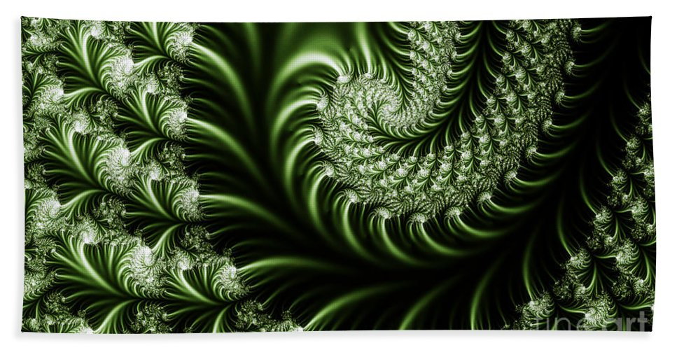 Clay Bath Towel featuring the digital art Chlorophyll by Clayton Bruster