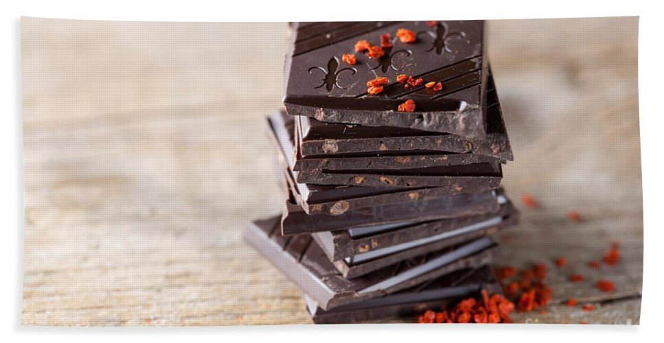 Chocolate Hand Towel featuring the photograph Chocolate And Chili by Nailia Schwarz
