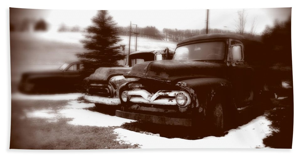 Old Cars Hand Towel featuring the photograph Chocolate Ghosts by Jean Macaluso