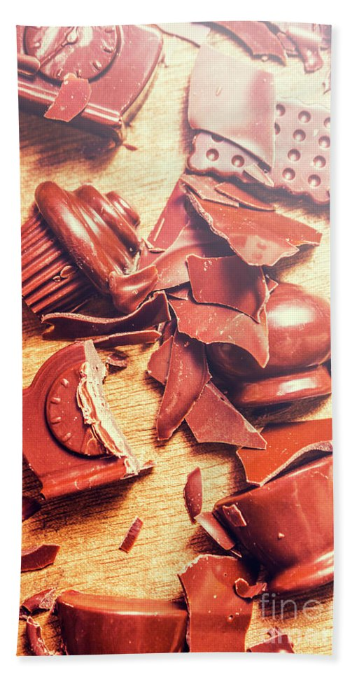 Kitchen Hand Towel featuring the photograph Chocolate Tableware Destruction by Jorgo Photography - Wall Art Gallery