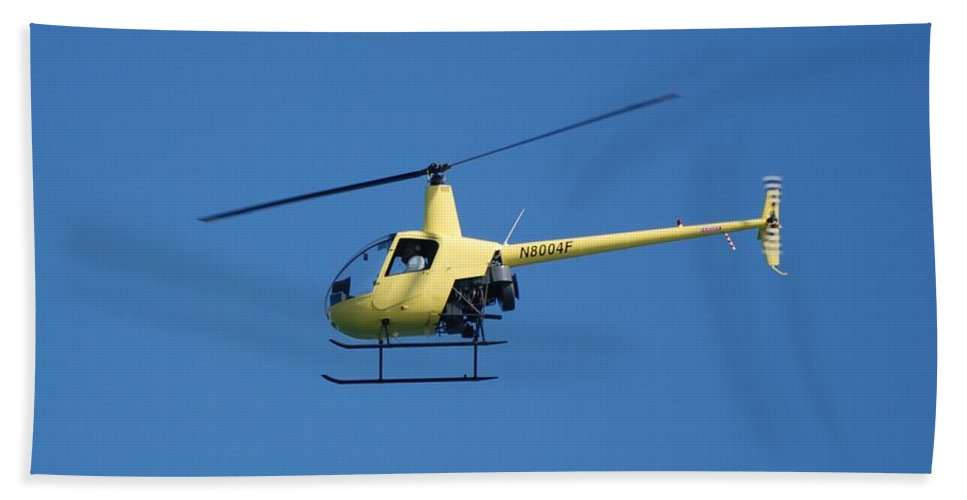 Yellow Bath Towel featuring the photograph Chopper by Rob Hans