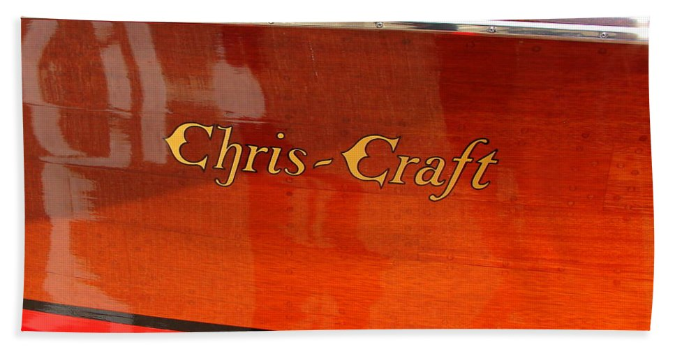 Logo Hand Towel featuring the photograph Chris Craft Logo by Michelle Calkins