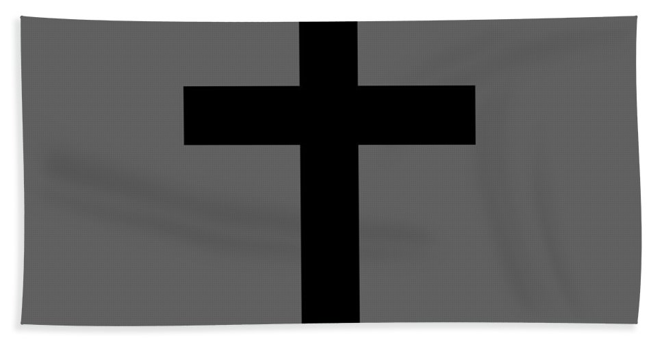 Religion Hand Towel featuring the digital art Christian Cross by Frederick Holiday