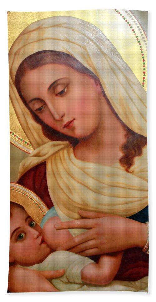 Christianity - Baby Jesus Bath Towel for Sale by Munir Alawi