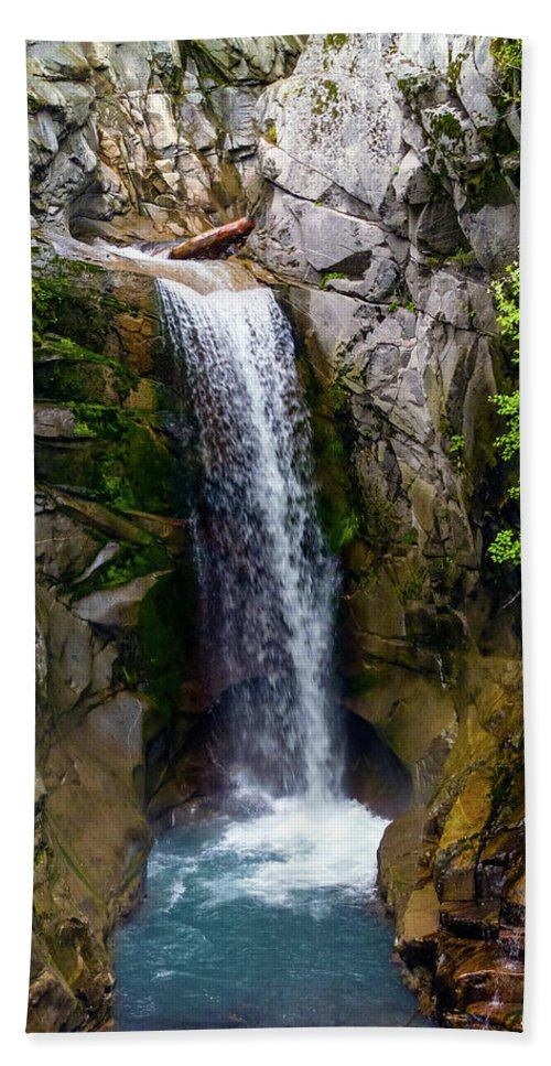 Christine Falls Hand Towel featuring the photograph Christine Falls Mt Rainier by Greg Reed