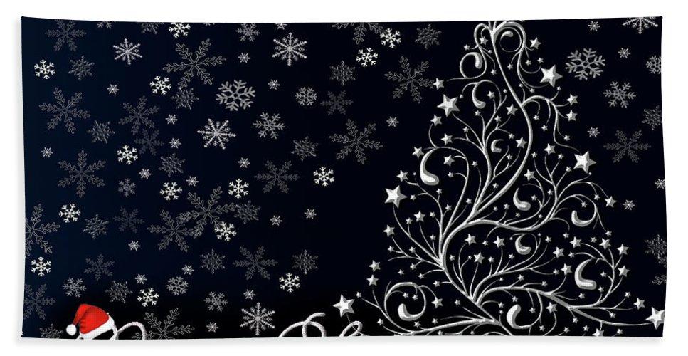 Christmas Hand Towel featuring the photograph Christmas Card 10 by Nina Ficur Feenan