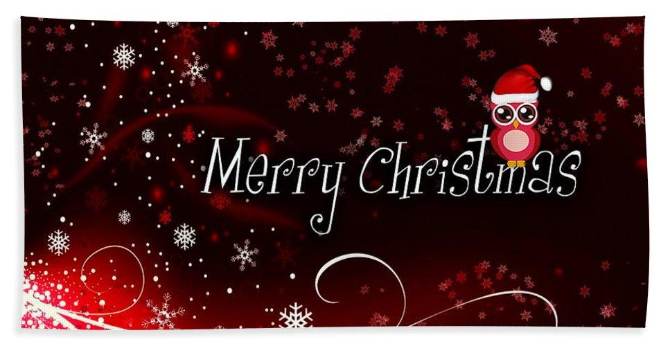 Christmas Hand Towel featuring the photograph Christmas Card 3 by Nina Ficur Feenan