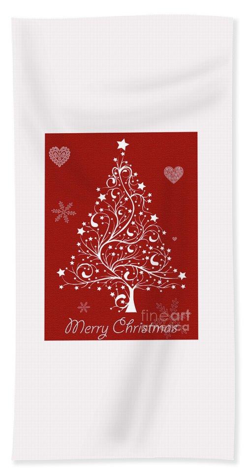 Christmas Hand Towel featuring the photograph Christmas Card 5 by Nina Ficur Feenan