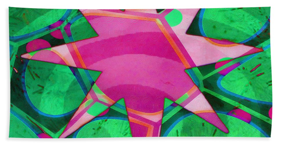 Oil Bath Sheet featuring the painting Christmas Celebration Abstract Painting by Edward Fielding