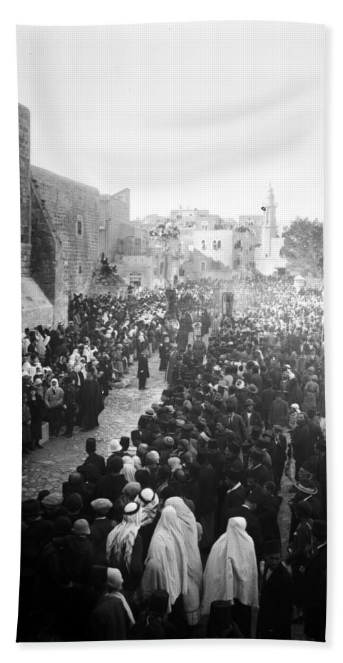 Bethlehem Hand Towel featuring the photograph Christmas Celebration5 by Munir Alawi