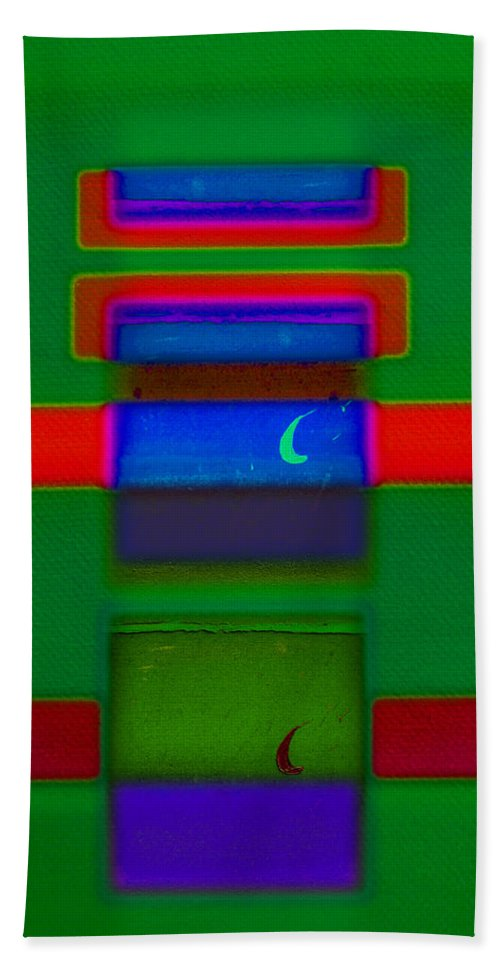 Rothko Hand Towel featuring the painting Christmas by Charles Stuart