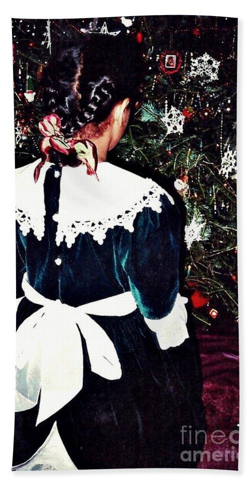 Christmas Dress Hand Towel featuring the photograph Christmas Dress by Sarah Loft