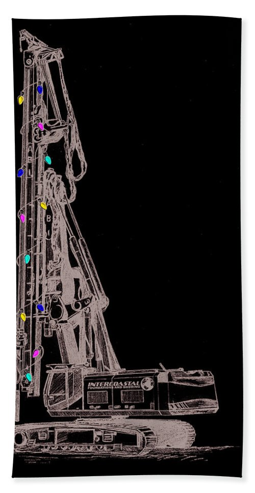 Christmas Hand Towel featuring the digital art Christmas Intercoastal Abi by Stacey May