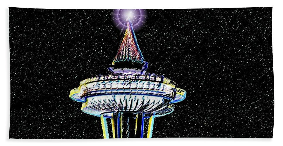 Seattle Hand Towel featuring the photograph Christmas Needle by Tim Allen