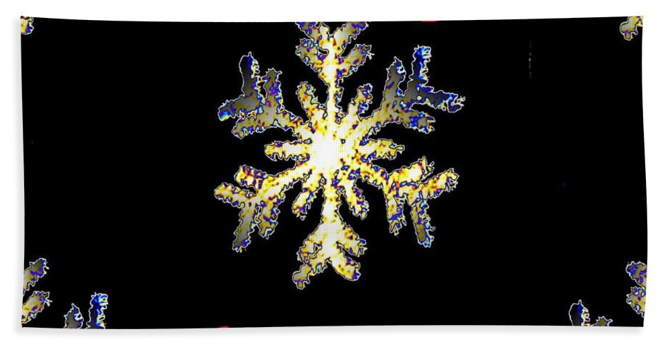 Snow Hand Towel featuring the photograph Christmas Snowflakes by Tim Allen