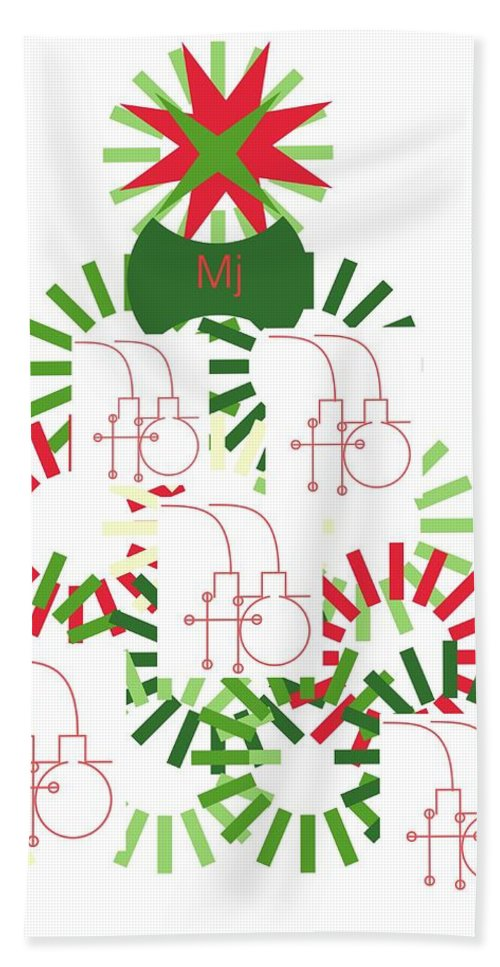 Christmas Card Hand Towel featuring the digital art Christmas Tree by Mary Jo Hopton
