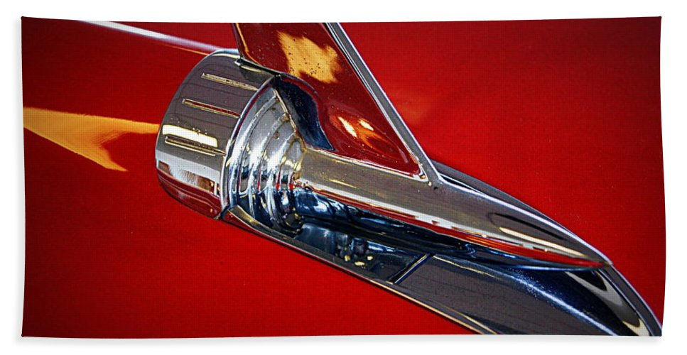Car Hand Towel featuring the photograph Chrome by Cricket Hackmann