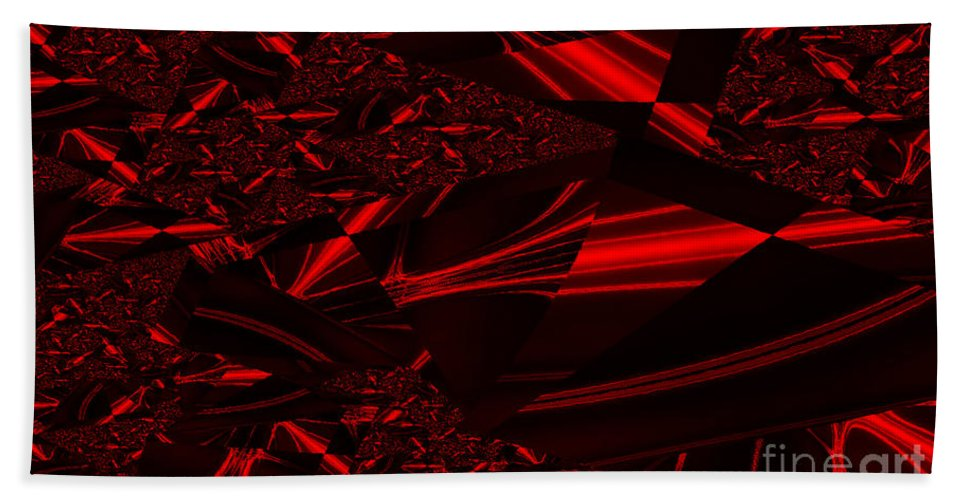 Clay Bath Sheet featuring the digital art Chrome In Red by Clayton Bruster