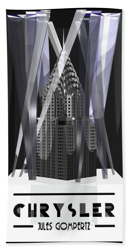 3d Hand Towel featuring the digital art Chrysler by Jules Gompertz