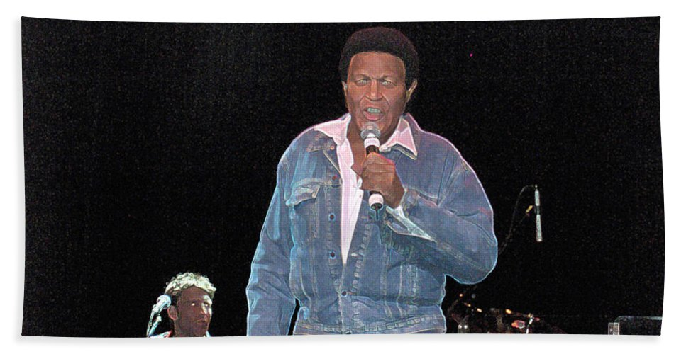 Chubby Checker Singer Bands Music Blues Dance Star Concert Bath Sheet featuring the photograph Chubby Checker by Andrea Lawrence