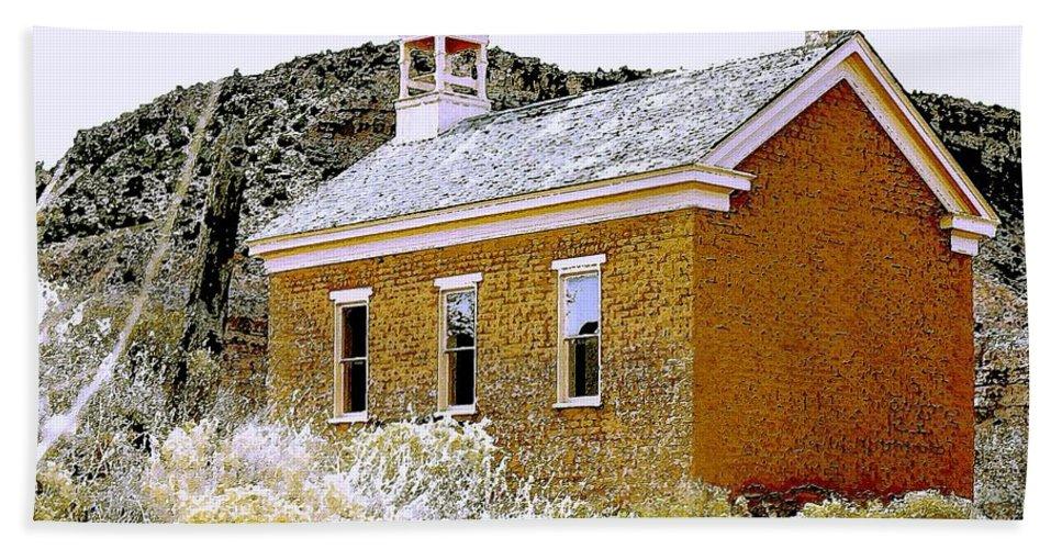 Church Bath Towel featuring the photograph Church - Grafton Utah by Nelson Strong