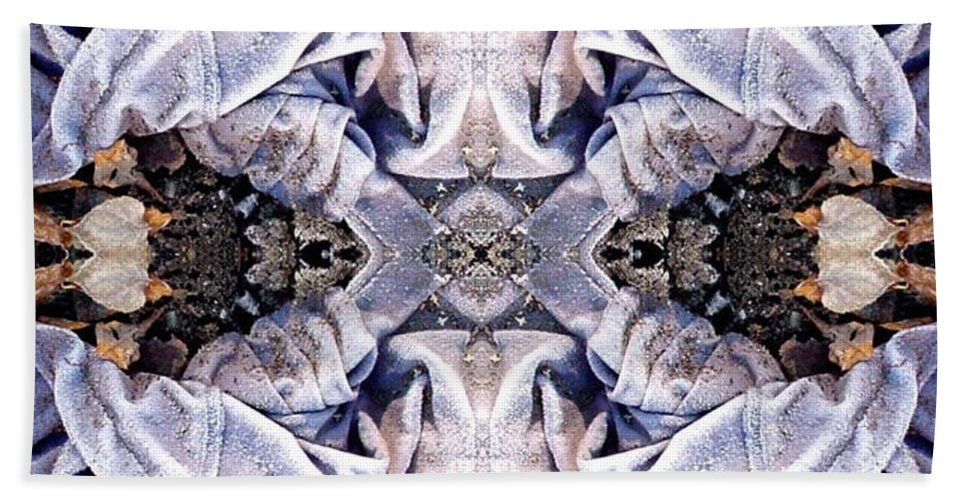 Abstract Bath Sheet featuring the digital art Church Clothing by Ron Bissett