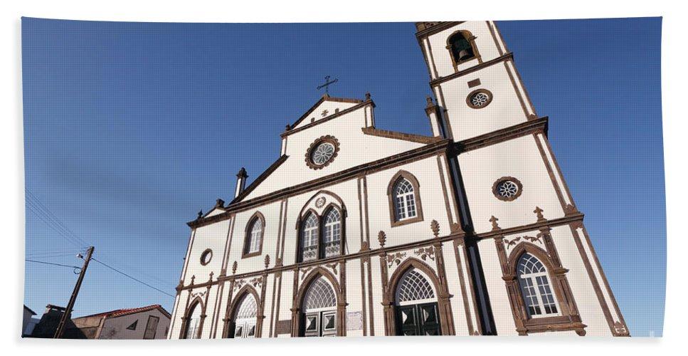 Santo Antonio Nordestinho Bath Towel featuring the photograph Church In Azores Islands by Gaspar Avila