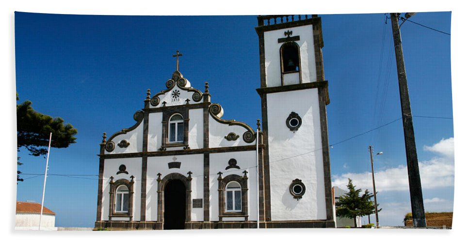Sao Miguel Hand Towel featuring the photograph Church In The Azores by Gaspar Avila