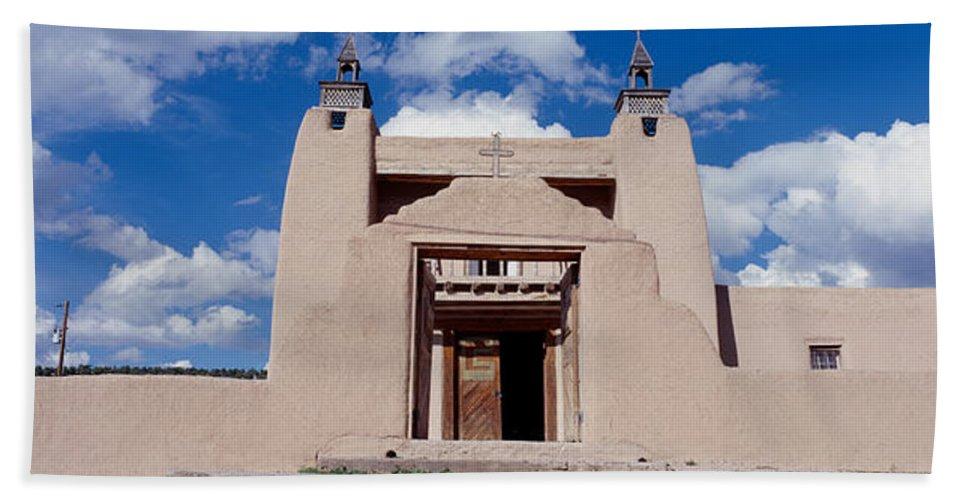 Photography Bath Sheet featuring the photograph Church Of San Jose De Garcia, Las by Panoramic Images