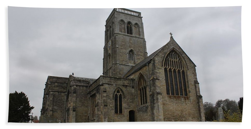 Wedmore Bath Sheet featuring the photograph Church Of St. Mary's - Wedmore by Lauri Novak