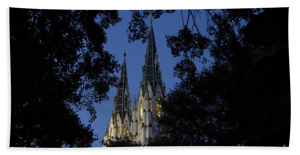 Church Steeple Hand Towel featuring the photograph Church Steeples by David Lee Thompson