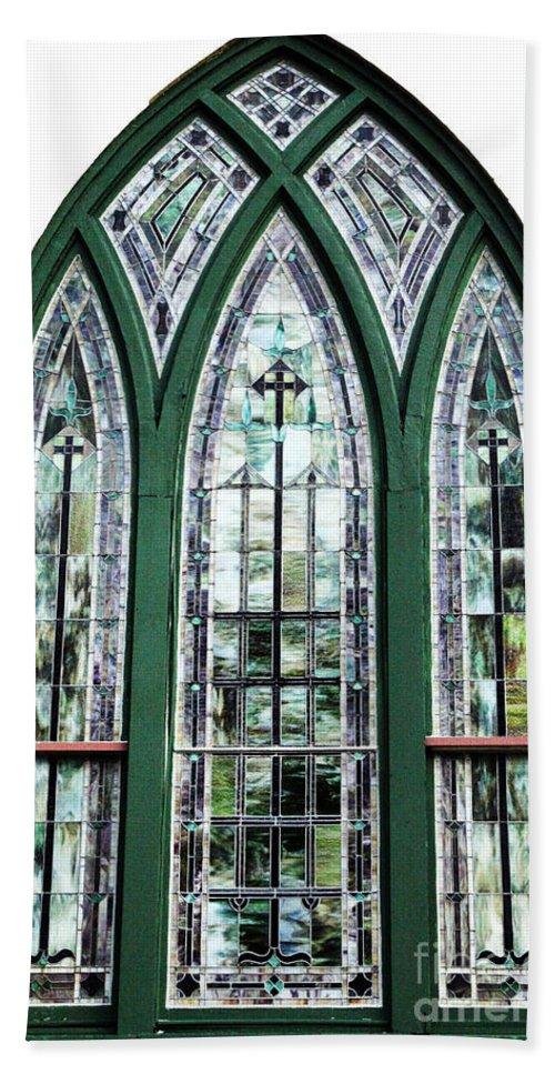 Window Bath Sheet featuring the photograph Church Window by Amanda Barcon