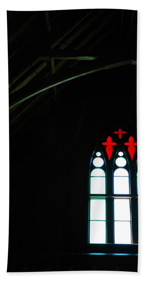 Usa Bath Sheet featuring the photograph Church Windows by LeeAnn McLaneGoetz McLaneGoetzStudioLLCcom