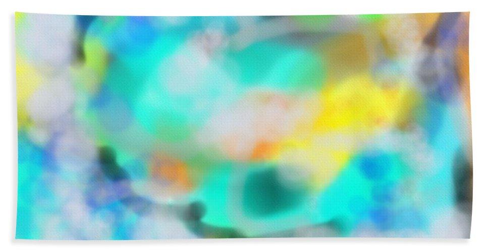 Ciel Bath Sheet featuring the digital art Ciel by Michael Laughrin