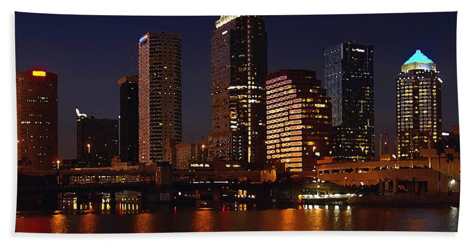Tampa Florida Bath Sheet featuring the photograph Cigar City by David Lee Thompson