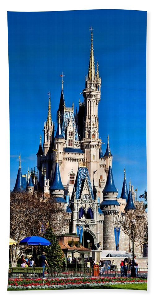 Cinderella Castle Hand Towel featuring the photograph Cinderella Castle by Tommy Anderson