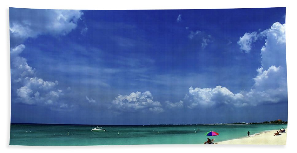 Grand Bath Sheet featuring the photograph Circle Of Clouds On Grand Cayman by Marie Hicks