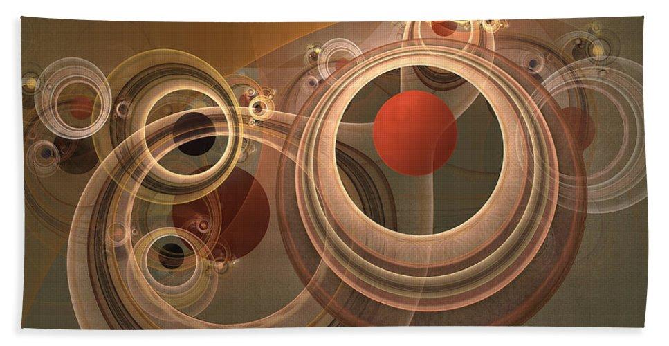 Digital Bath Sheet featuring the digital art Circles And Rings by Deborah Benoit